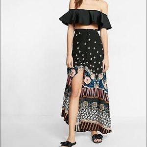 NWOT Express Button Front Maxi Skirt